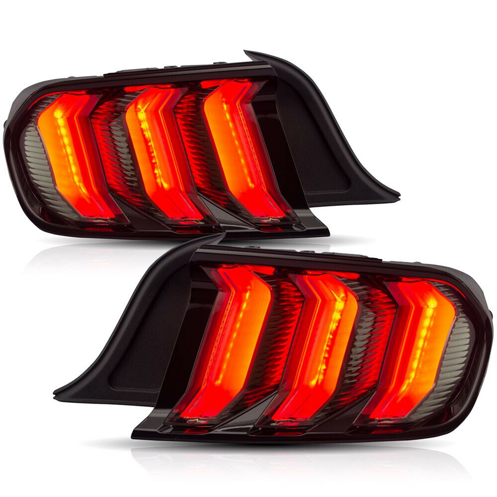 Vland 2015-2020 Ford Mustang Clear Euro Tail Lights