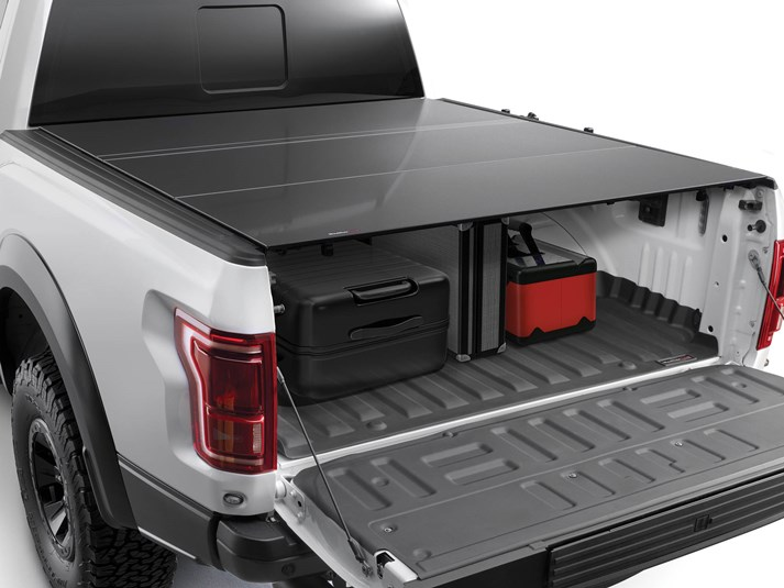 Weathertech 2017 2020 Ford F 150 Raptor Alloycover Hard Tri Fold Pickup Truck Bed Cover Function Factory Performance