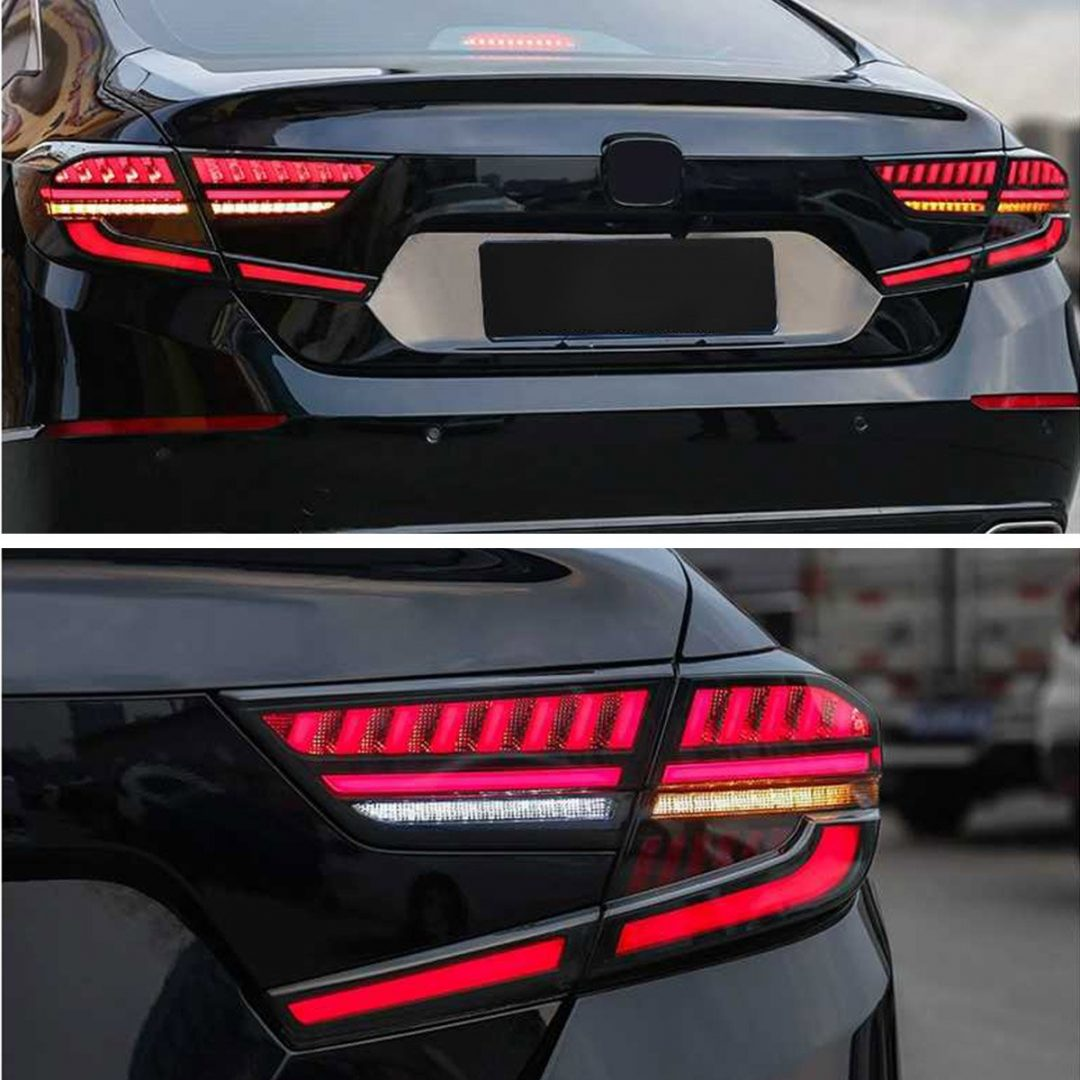Vland 2018 2020 Honda Accord Led Rear Tail Lights Smoked Function Factory Performance