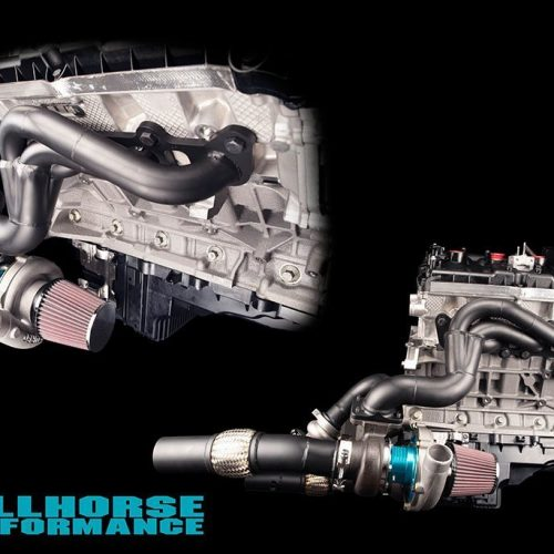 Hellhorse Performance 2015 - 2020 Ford Mustang GT - GT350 Mid Mount Twin Turbo Kit - 1500hp Rated