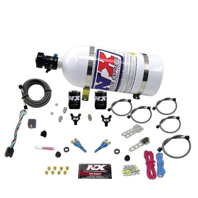 Nitrous FORD EFI DUAL NOZZLE (100-300HP) WITH 10LB BOTTLE