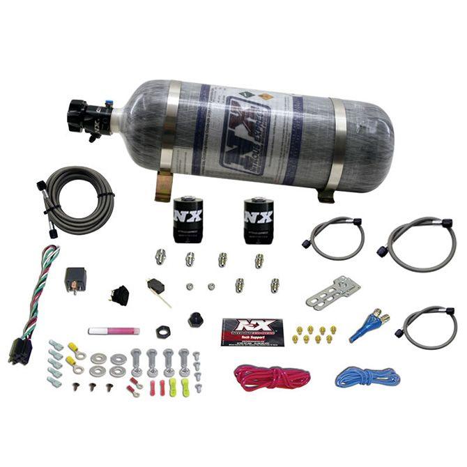 Nitrous GM EFI RACE (100-150-200-250HP) SINGLE NOZZLE WITH COMPOSITE BOTTLE