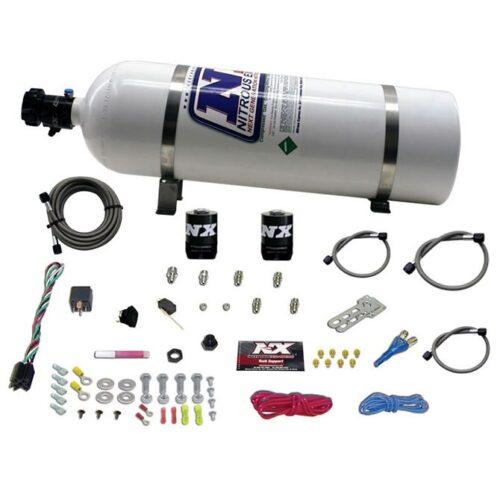 Nitrous GM EFI RACE (100-150-200-250HP) SINGLE NOZZLE WITH 15LB BOTTLE
