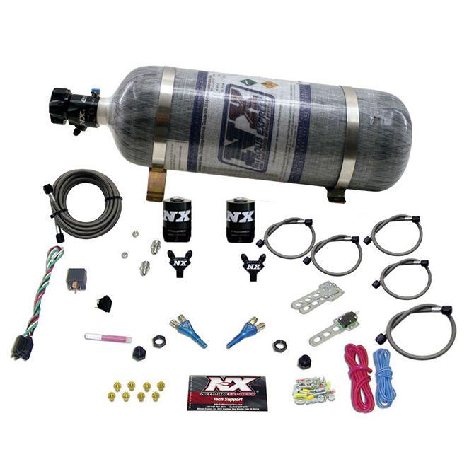 Nitrous DODGE EFI FULL RACE (100-150-200-300HP) DUAL NOZZLE WITH COMPOSITE BOTTLE