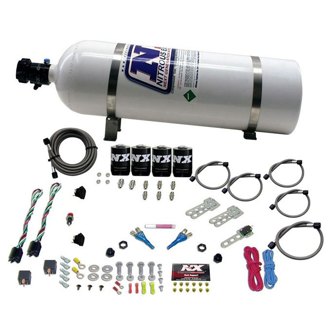 Nitrous DODGE EFI DUAL STAGE (50-75-100-150HP) X 2 WITH 15LB BOTTLE