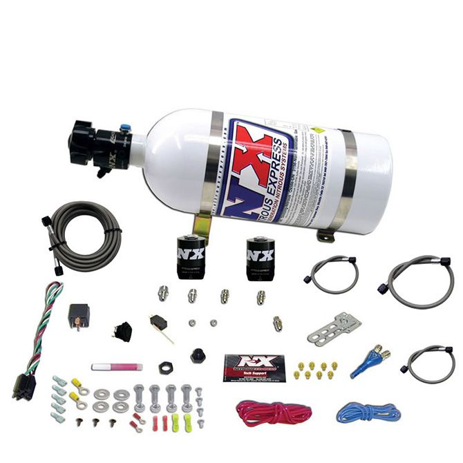 Nitrous ALL FORD EFI SINGLE NOZZLE SYSTEM (35-50-75-100-150 HP) WITH 10LB BOTTLE