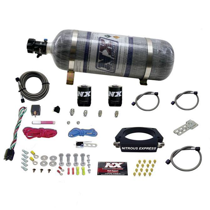 Nitrous LS 102mm PLATE SYSTEM (50-400HP) W/ 12LB COMPOSITE BOTTLE