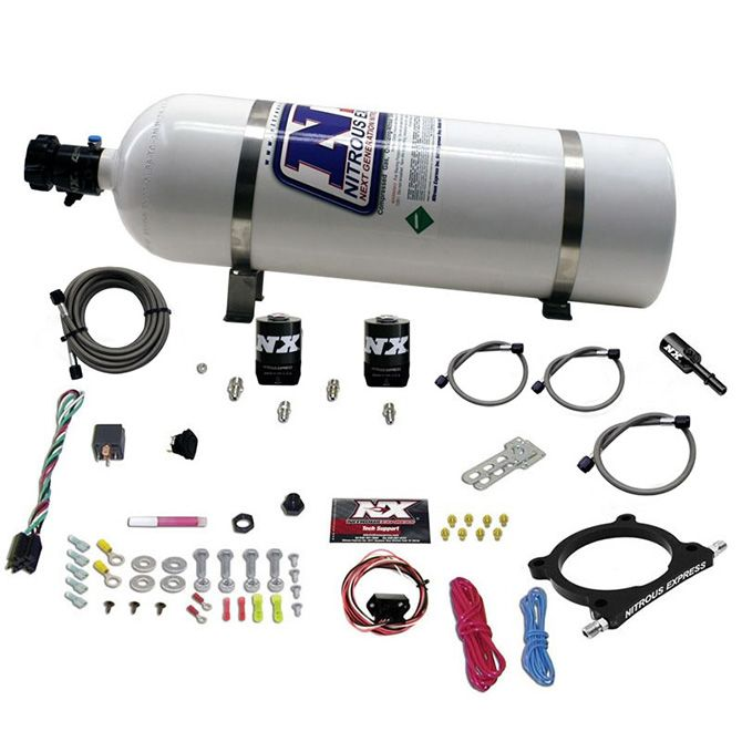 Nitrous 5.0 COYOTE HIGH OUTPUT PLATE SYSTEM (50-250HP) W/ 15LB BOTTLE