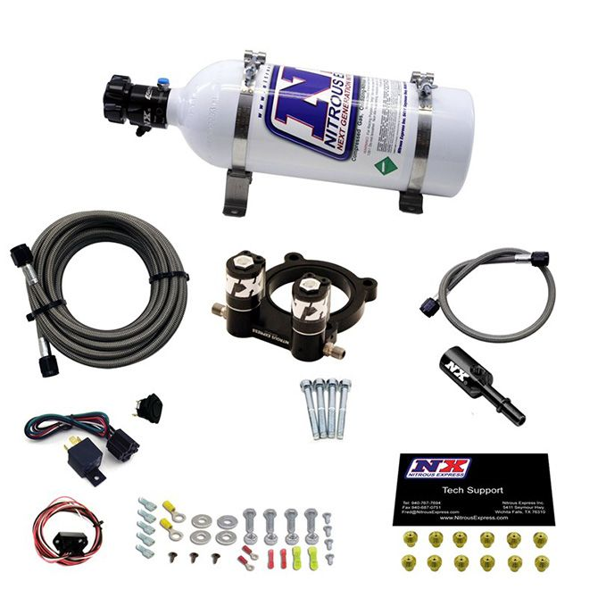 Nitrous FORD 4 CYL NITROUS PLATE SYSTEM-2.3L ECOBOOST W/ 5LB BOTTLE