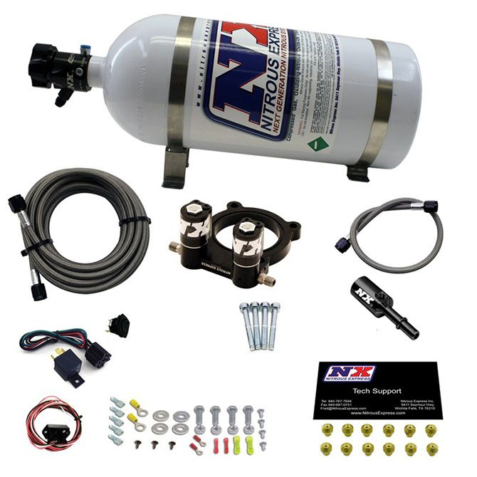Nitrous FORD 4 CYL NITROUS PLATE SYSTEM-2.3L ECOBOOST W/ 10LB BOTTLE