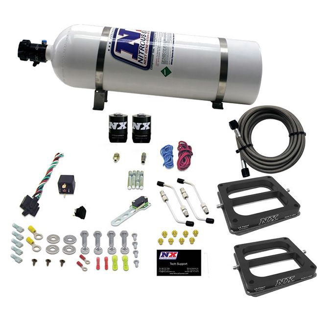 Nitrous DUAL/Dominator/ALCOHOL (50-100-150-200-250-300HP) WITH 15LB BOTTLE