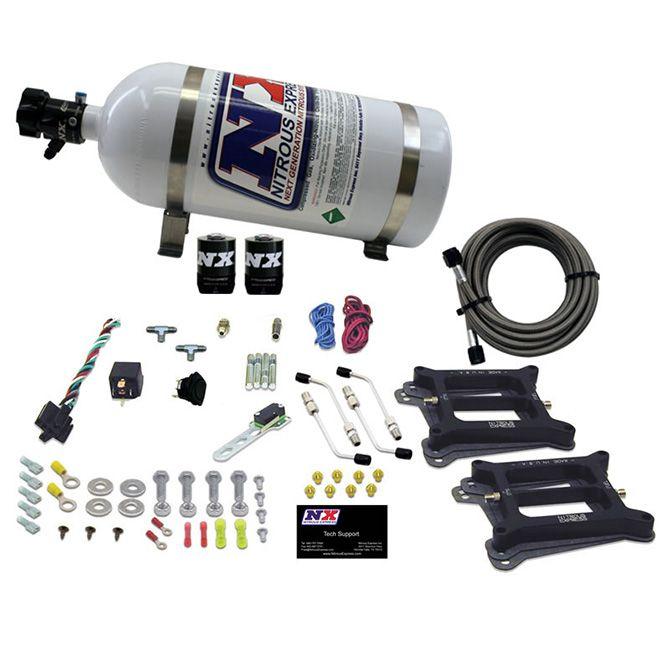 Nitrous DUAL 4150/ALCOHOL (100-200-300-400-500HP) WITH 10LB BOTTLE