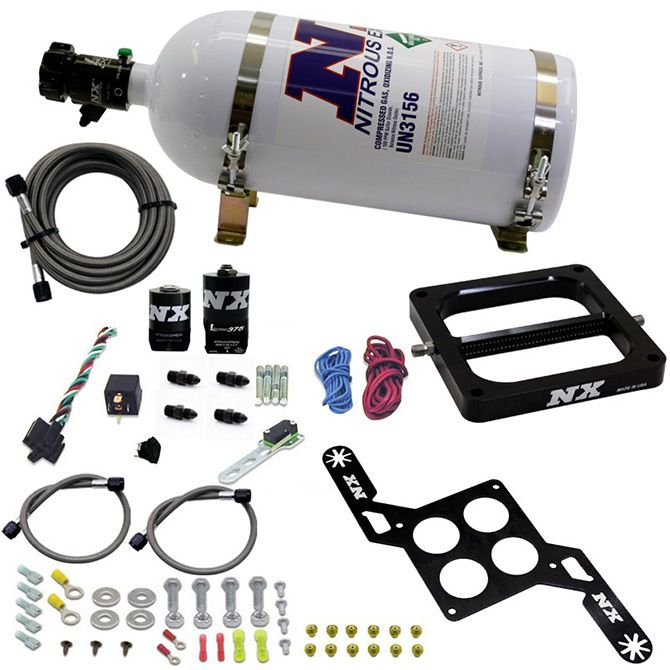 """Nitrous 4500 RNC Conventional Plate System w/ .375"""" Solenoid w/ 10lb Bottle"""