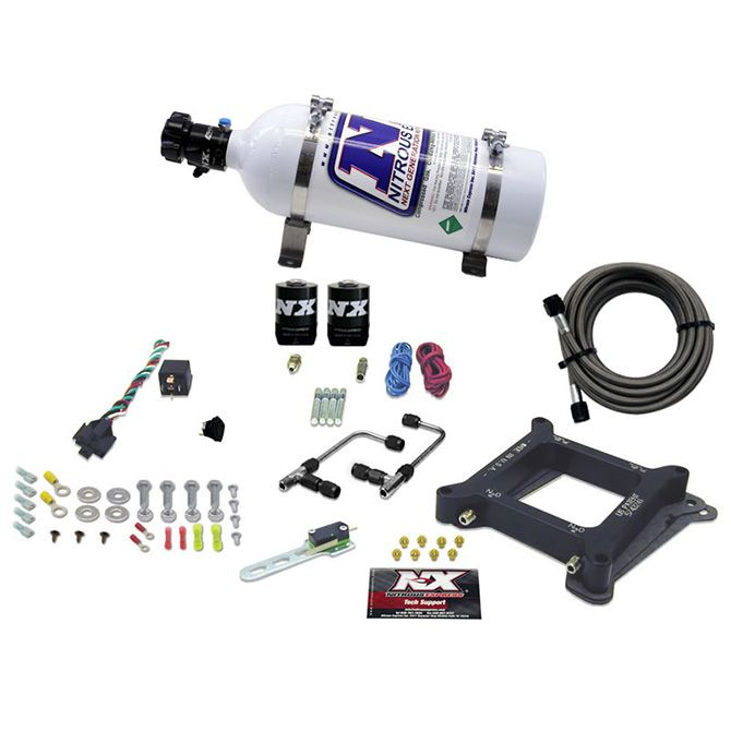Nitrous 4150 Gemini STAGE 6 (50-100-150-200-250-300HP) WITH 5LB BOTTLE.