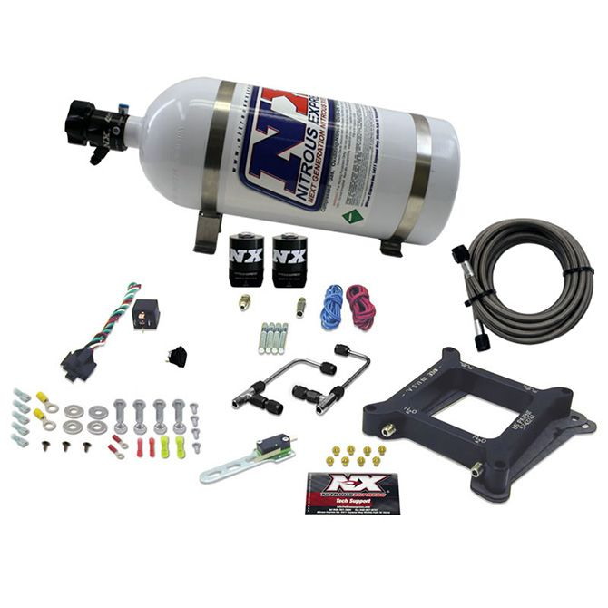 Nitrous 4150 Gemini STAGE 6 (50-100-150-200-250-300HP) WITH 10LB BOTTLE.