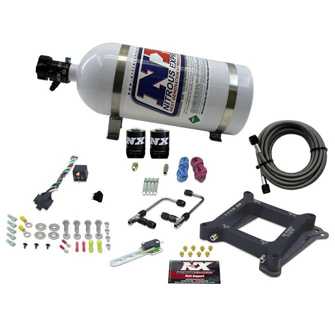 Nitrous 4150 Gemini STAGE 6 ALCOHOL (50-100-150-200-250-300HP) WITH 10LB BOTTLE