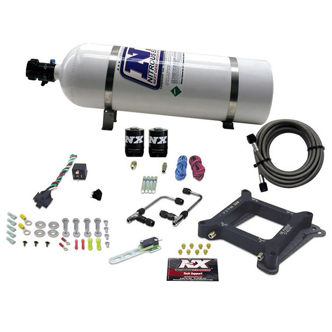 Nitrous 4150 Gemini STAGE 6 ALCOHOL (50-100-150-200-250-300HP) WITH 15LB BOTTLE