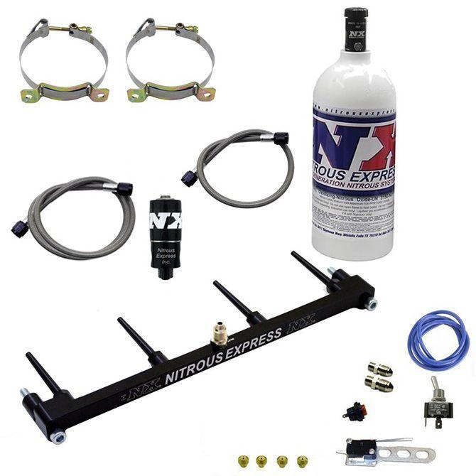Nitrous Billet Spray Bar System For ZX-14 w/ 1lb Bottle
