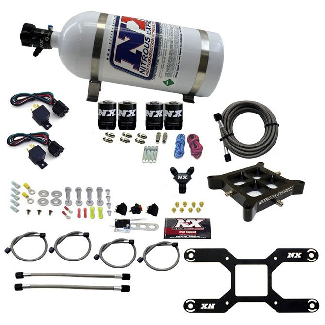 Nitrous 4150 DUAL STAGE BILLET CROSSBAR, (50-300 & 100-500HP) WITH 10LB BOTTLE.