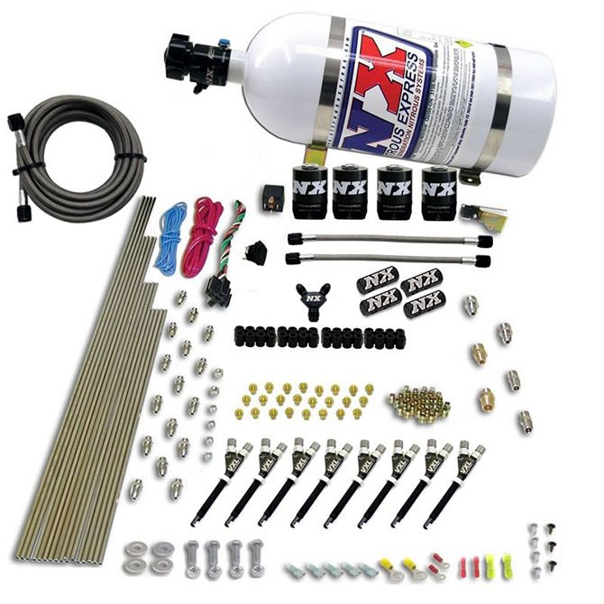 Nitrous 8 CYL VXL DIRECT PORT, 4 SOLENOIDS, (200-500HP JETTING) FOR EFI VEHICLES