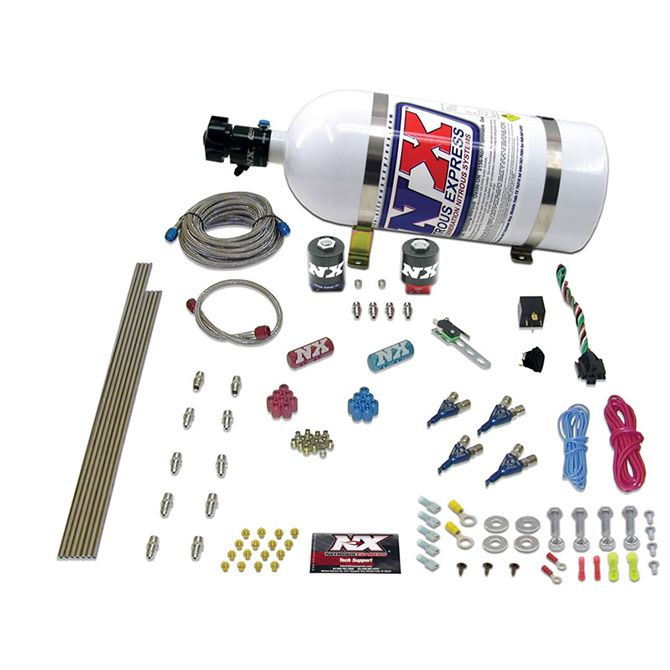 Nitrous 4-CYL ALCOHOL (125-175-225-275HP) WITH 10LB BOTTLE