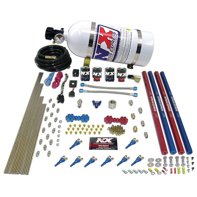 Nitrous SHARK/GAS (200,300,400,500,600HP) 2 SOLENOID SYSTEM WITH COMPOSITE BOTTLE