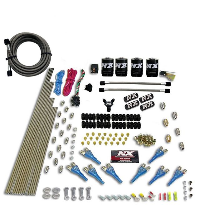 Nitrous 8 CYL SHARK DIRECT PORT, 4 SOLENOIDS, WITHOUT BOTTLE (200-600HP JETTING)