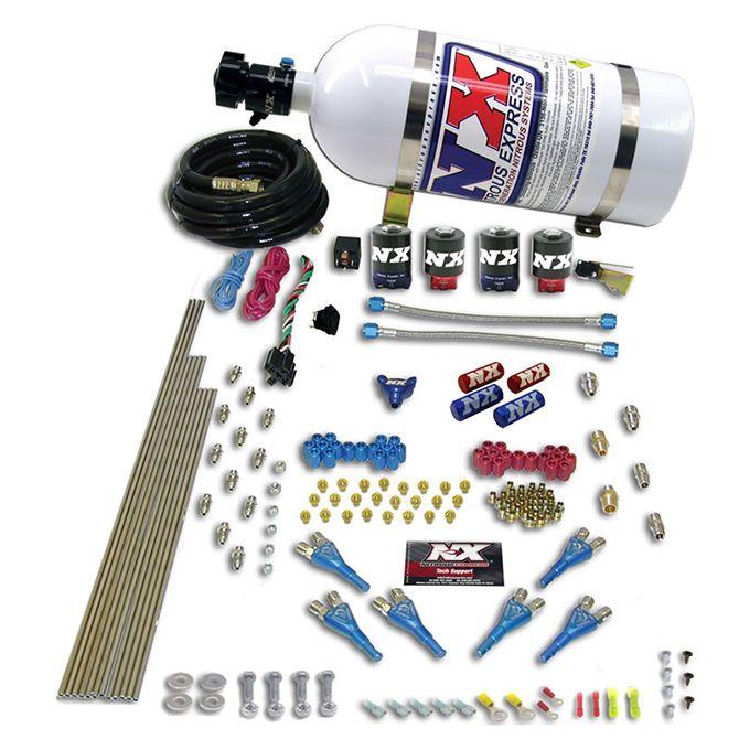 Nitrous PRO-SHK/ALC (250-350-450-550-650HP) 4 SOLENOIDS WITH 15LB BOTTLE