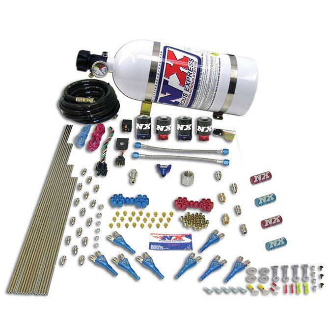 Nitrous STREET SHARK GAS (100-150-250HP) 4 SOLENOIDS WITH 15LB BOTTLE