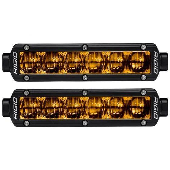 RIGID SR-Series DOT/SAE J583 6 Inch Selective Yellow LED Fog Light, Pair