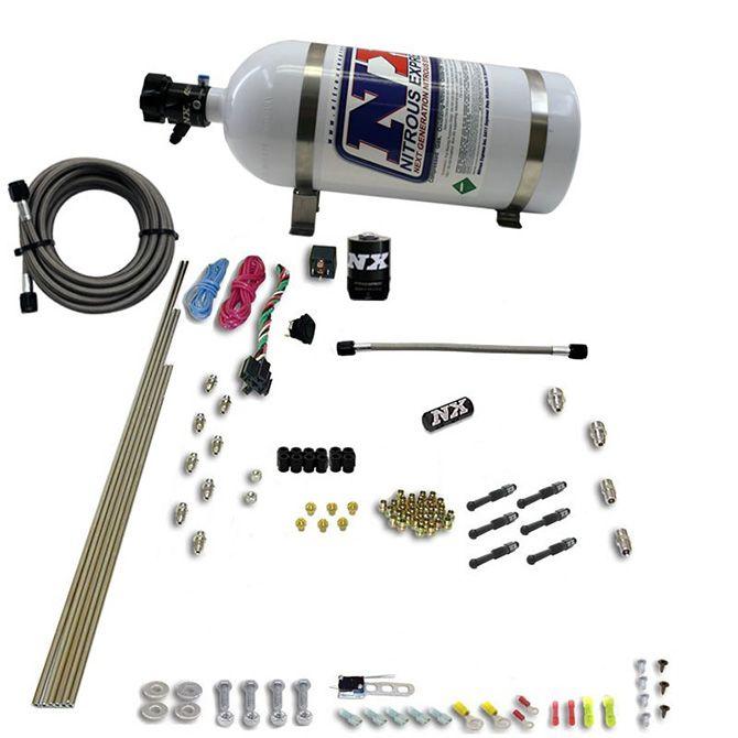 Nitrous 6-Cyl Dry Direct Port Nitrous System, 10lb Bottle