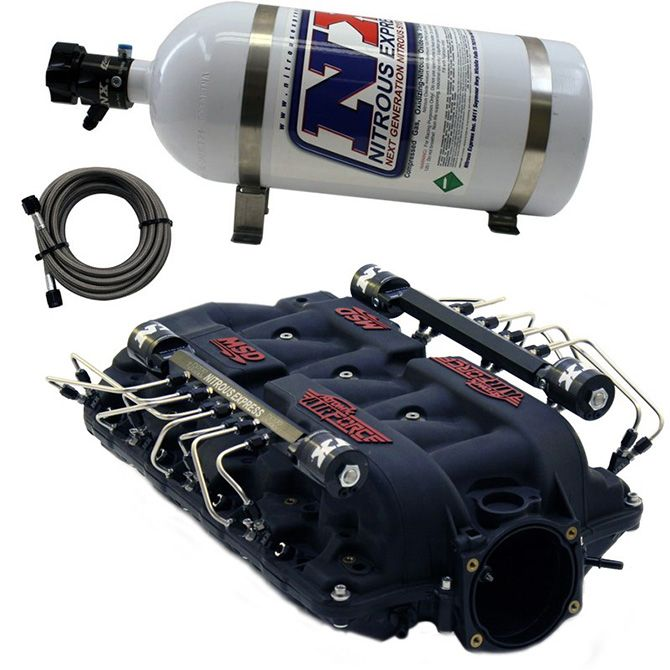 Nitrous MSD AIRFORCE MANIFOLD FOR CATHEDRAL PORT HEADS W/ VXL DIRECT PORT
