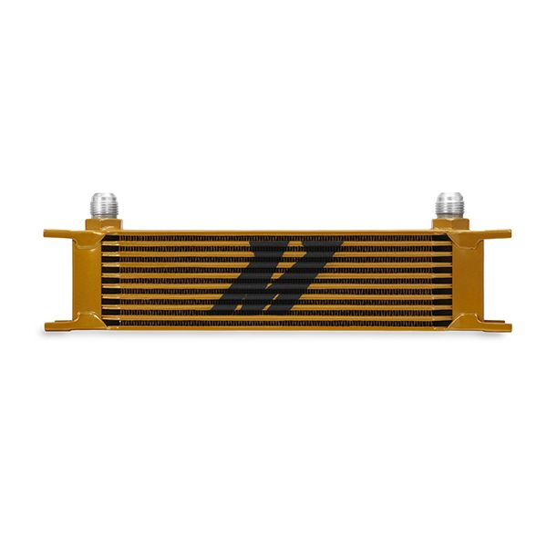 Mishimoto Universal 10 Row Oil Cooler, Gold
