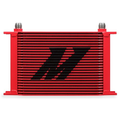 Mishimoto Universal 25-Row Oil Cooler, Red