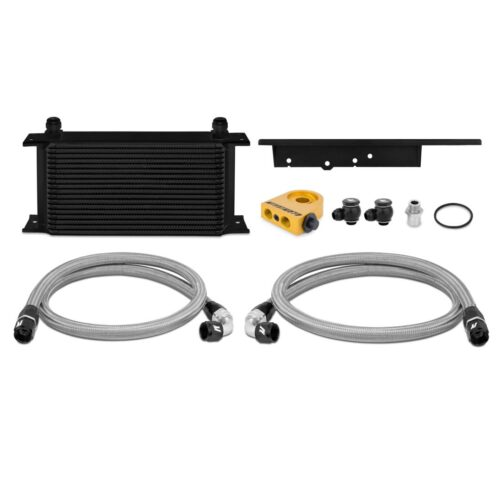 Mishimoto 2003-2009 Nissan 350Z/2003-2007 Infiniti G35 Coupe Thermostatic Oil Cooler, Blk