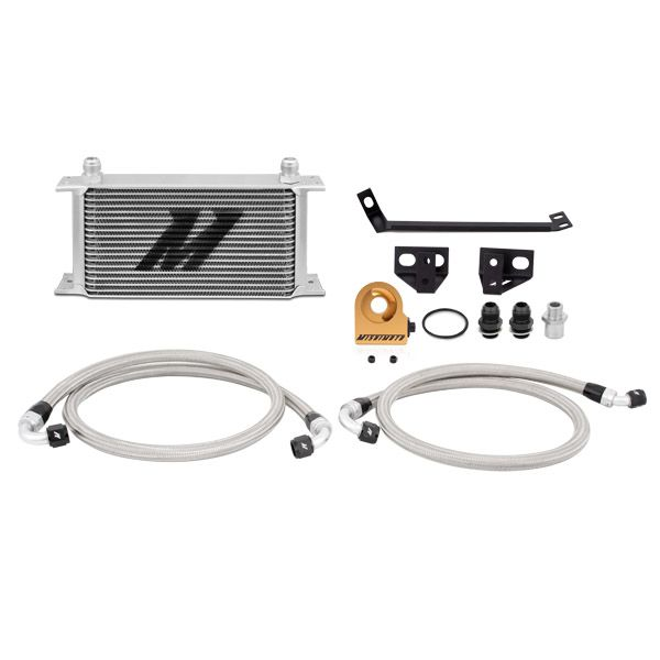 Mishimoto Ford Mustang EcoBoost Thermostatic Oil Cooler Kit, 2015-2017, Silver