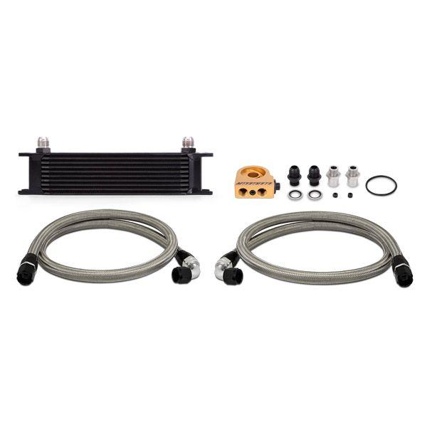 Mishimoto Universal Thermostatic 10 Row Oil Cooler Kit, Black