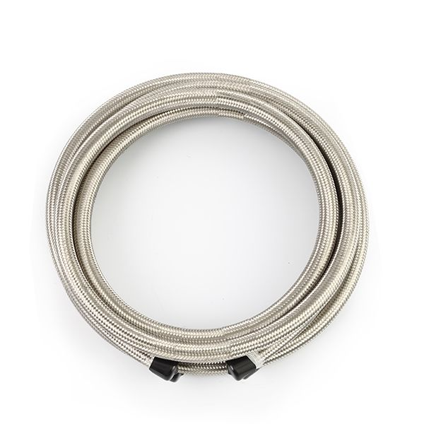 -4AN Braided Line, Stainless Steel - 15ft