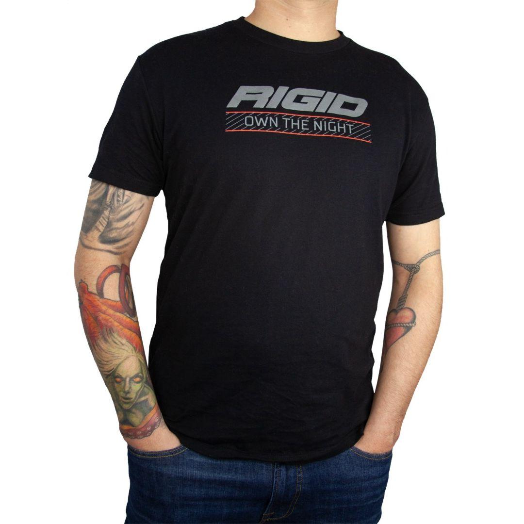 RIGID T-Shirt, Own The Night, Black, Large