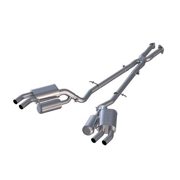 "MBRP Exhaust 2.5"" Cat Back, Dual Split Rear, AL"