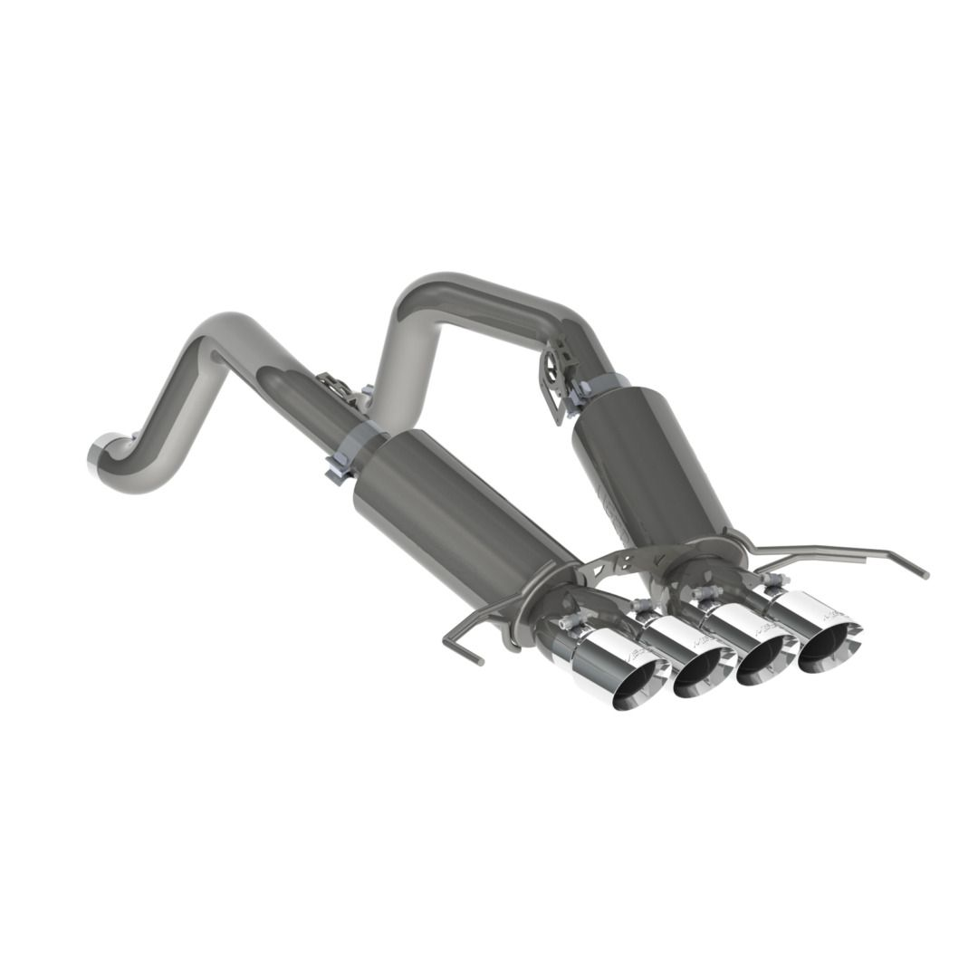 MBRP Exhaust 3in. Dual Muffler Axle Back; with Quad 4in. Dual Wall Tips; T304