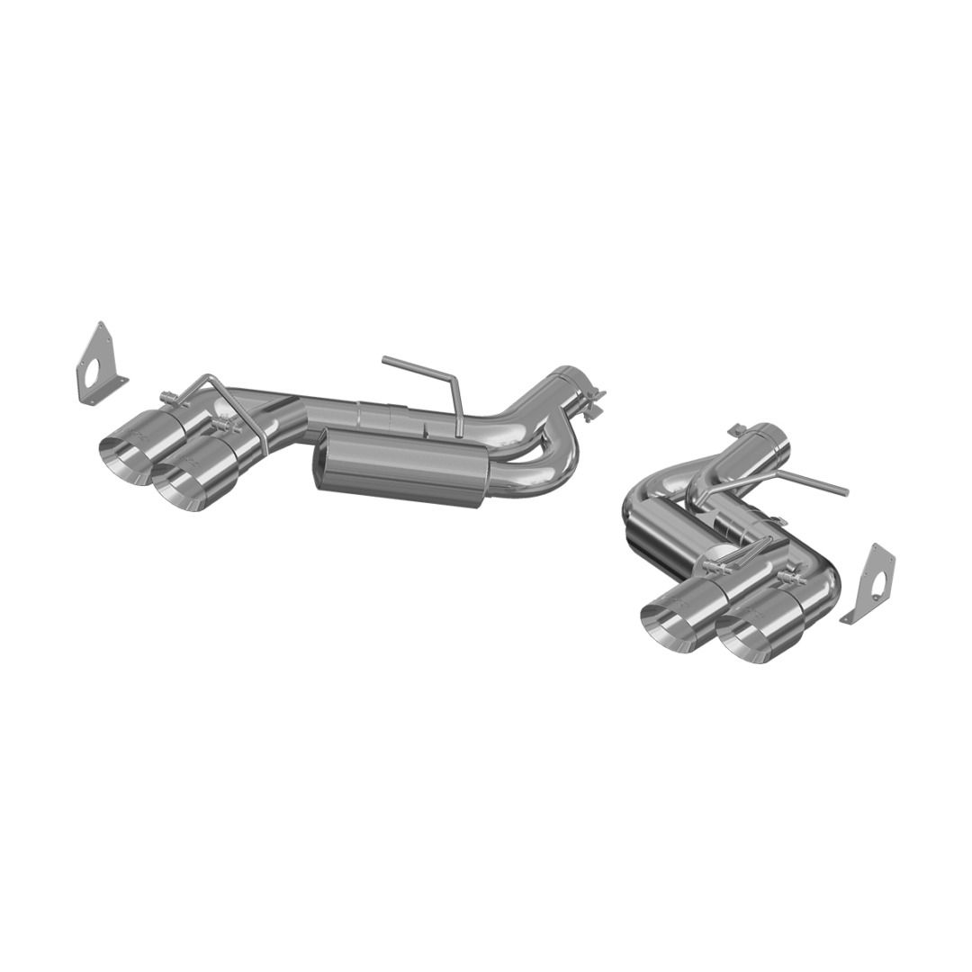 MBRP Exhaust 3in. Dual Axle Back; Quad Tips; Aluminized