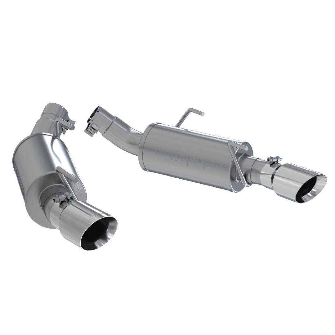 MBRP Exhaust 2 1/2in. Dual Mufflers Axle Back; Split Rear; AL