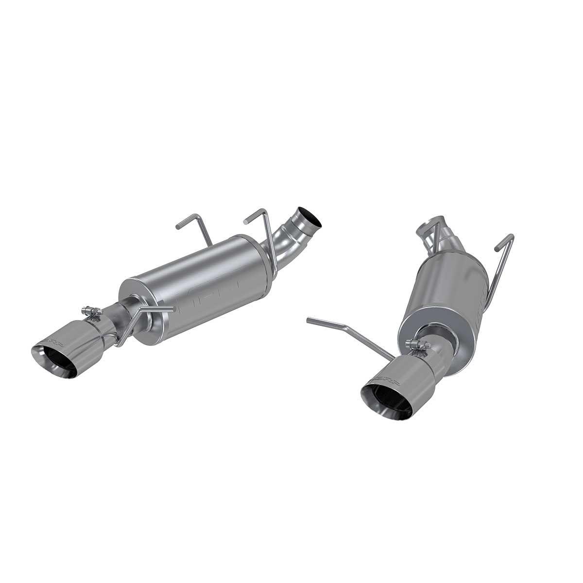 """MBRP Exhaust 3"""" Dual Muffler Axle Back; Split Rear; AL"""